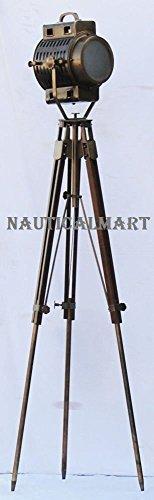 Nautisches Hollywood Strahler Searchlight Studio Boden Lampe mit Stativ Stand By nauticalmart (Boden Nautische)