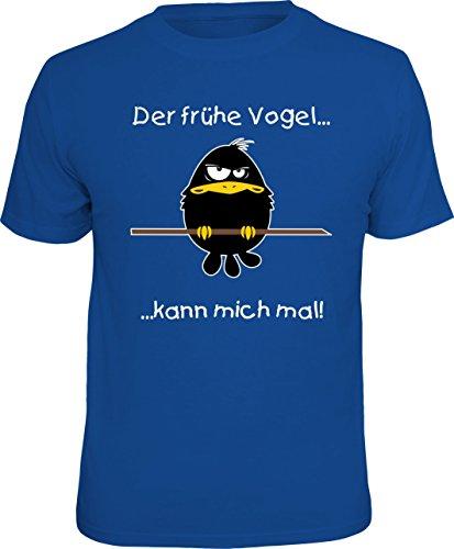 RAHMENLOS Original T-Shirt für den Morgenmuffel: Der frühe Vogel kann Mich mal! Größe XL, Nr.6869