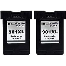 Kyansin 2XL Negro Cartuchos Reemplazo para HP 901 XL 901XL Compatible cartuchos de tinta para impresora HP Officejet 4500 G510a 4500 G510g 4500 G510n J4640 J4660 J4680 J4680c J4540 J4550 J4580 J4585