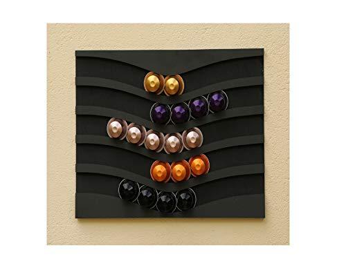 Capstores accessori porta-capsule nespresso capsules (nero)