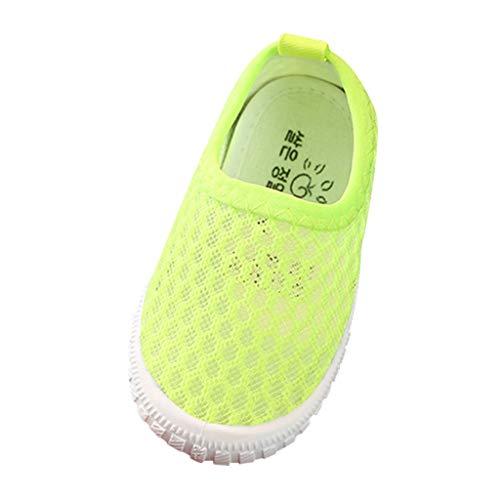 Sneaker für Kinder/Dorical Sommer Unisex Baby Jungen Mädchen Lauflernschuhe/Candy Farbe Mesh Atmungsaktiv Sportschuhe Outdoor Freizeitschuhe Krabbelschuhe mit Weiche Sohle 22-31EU(Grün,23 EU)