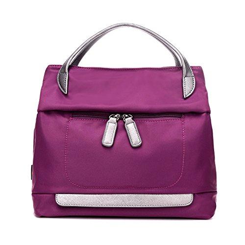 Ladies singola borsa a tracolla,borsa di tela,portatile/messenger bag-Rosso porpora