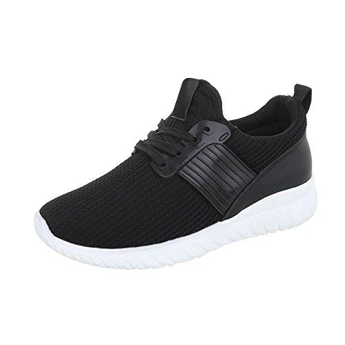 Sneakers Ital-design Basse Sneakers Da Donna Sneakers Basse Lacci Scarpe Casual Nere An1218