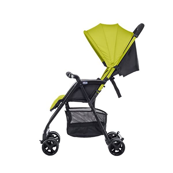 Chicco Buggy Ohlala, Citrus  Can even be lifted with one finger. pure comfort and style. The backrest is adjustable to the flat reclining position. adjustable footrest. With continuous slide for a smooth ride and sliding with only 1 hand. 3