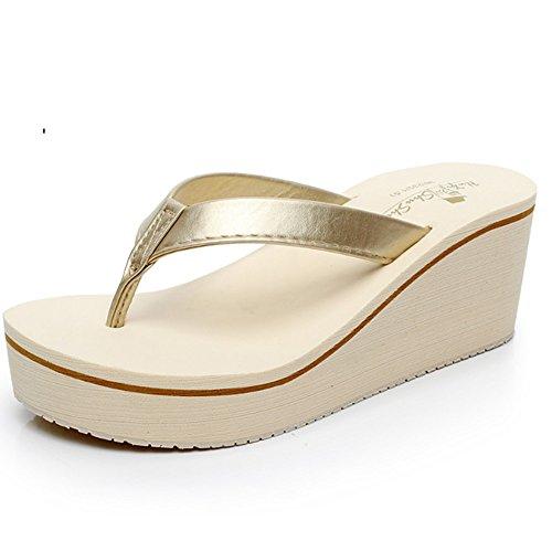 Pantofole a forma di alto tacchi Pattini spessi di modo femminile di estate  Pendenza con i