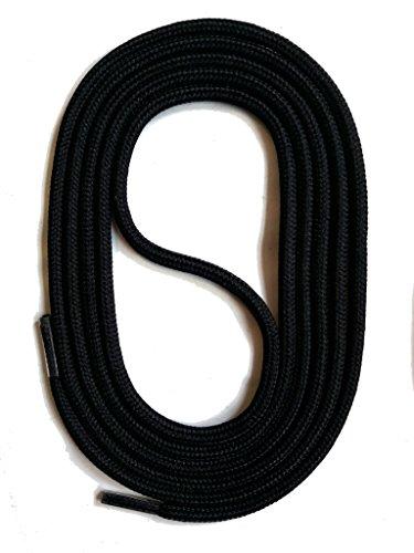 SNORS - Schnürsenkel - RUNDSENKEL Schwarz 75cm, ca. 3mm, integr. Zugstabilisierung