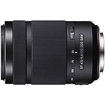 Sony DT 55-300 mm f/4.5-5.6 SAM - Objetivo para Sony Alpha / Konica-Minolta (distancia focal 82.5-450mm, apertura f/4.5-29, diámetro: 62mm) negro