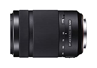 Sony 55-300mm f/4.5-5.6DT Sam - Objetivo para Sony (Distancia Focal 82.5-450mm, Apertura f/4.5-29, Zoom óptico 5.4X, diámetro: 62mm), Negro (B008PCVE78) | Amazon price tracker / tracking, Amazon price history charts, Amazon price watches, Amazon price drop alerts