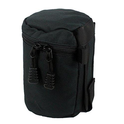 Andux Zone Imbottito Nylon Impermeabile Fotocamera Lens Pouch Bag con il Ciclo Della Cinghia di Fissaggio con Cinturino Nero per Obiettivi Fotocamera