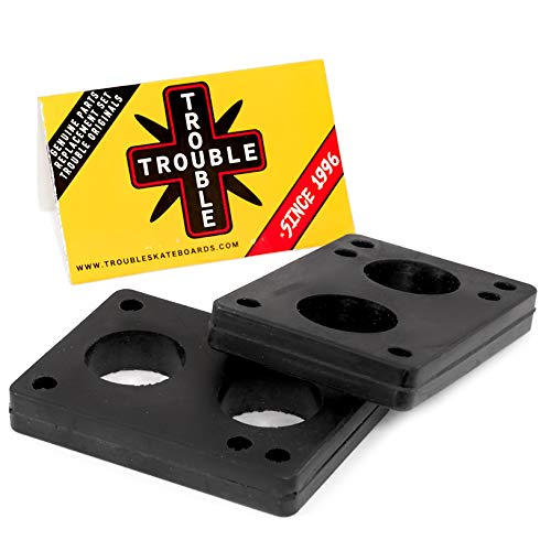 "Trouble Riser Pads Shock Pad für Skateboard Longboard 3 6 12 mm (1/8 1/4 1/2"") 2 Stück, 12mm 1/2"""
