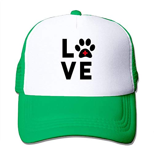 nchengcongzh Unisex Mesh Hats Love Vet Tech Paw Verstellbare Snapback Cricket Cap DIY 1750 (Best Tech Kostüm)