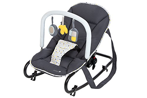 Safety 1st Koala 28229490 Gandulita reclinable para bebé, ligera y compacta, color gris (Grey Patches) [Modelo antiguo]