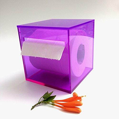 Kunststoff saugnapf rollenhalter,Wand halterung frei stehende einfache wasserdichte küche wc bad gewebe box toilettenpapierhalter-B 12.6x12.6x12cm(5x5x5inch) -