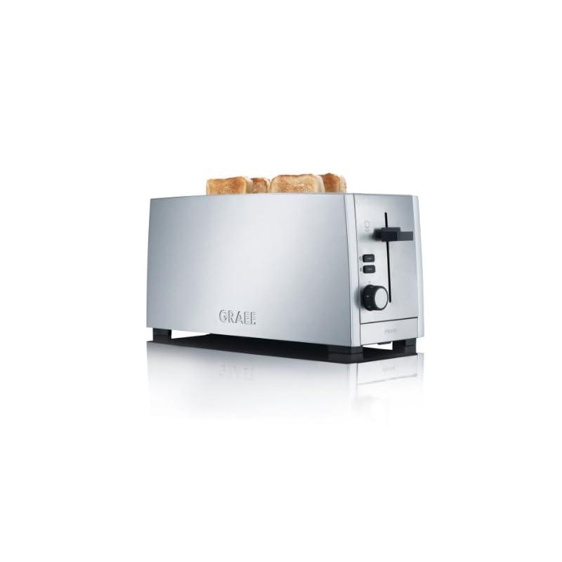 Gebr Graef To100eu 4 Scheiben Langschlitz Toaster Edelstahl Matt