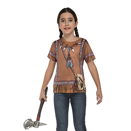 viving Kostüme viving costumes231170 Indian Girl Short Sleeve T-Shirt (2–4 Jahre, One Size)
