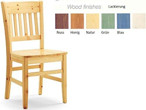 Topstuhl Lot de 2 chaises Longues en Bois de hêtre Blanc