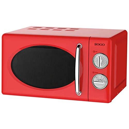 SOGO SS-890-R - Microondas Estilo Retro, Microondas Vintage con Capacidad de 20 Litros, 5 Potencias...