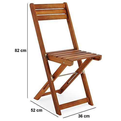 Gartenmöbel-Set mit 2 Stühlen und 1 Tisch