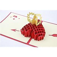Handgemachte Pop-up-Pop-up-Valentines-Karte 3D Liebe ich liebe dich Liebhaber Paar Liebe Herz Vogel Hochzeit Engagament Jahrestag Geburtstag Gruß Einladung