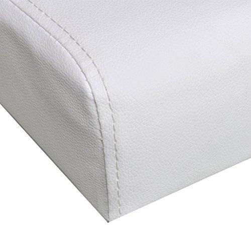 vidaXL Schlafsofa mit zwei Kissen verstellbar weiß - 6