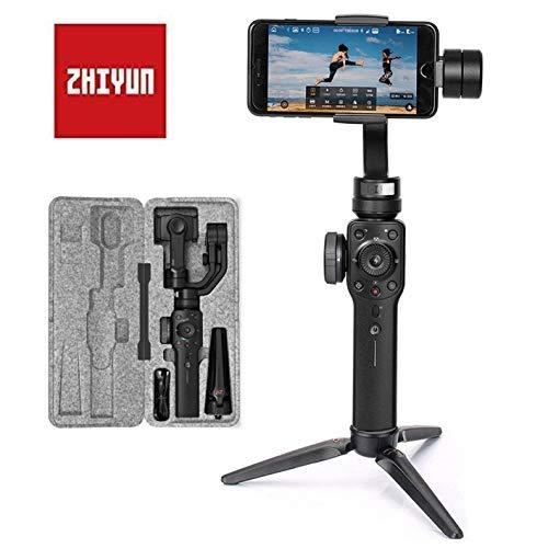 Zhiyun Smooth 4 Smartphone Gimbal Handy Stabilisator 3-Achsen Handheld Stabilizer bis zu 210g 6,5 Zoll für iPhone X XS max XR 8 7 6 Plus SE, Samsung S8+ 7 6 5 Edge Note 8 7, Huawei, GoPro 7/6/5/4