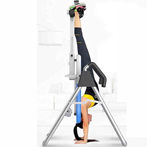MASODHDFX Klappbarer Inversionstisch mit gepolsterter Rückenlehne Hochleistungs-Inversionstherapietisch