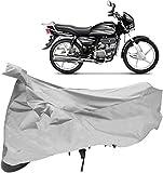 #8: Autoridez Silver Bike Cover for Hero Splendor Plus