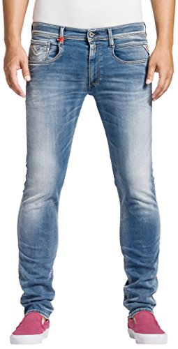 Replay - Anbass, Jeans Uomo, Blu (Blue Denim 555-10), W32/L34