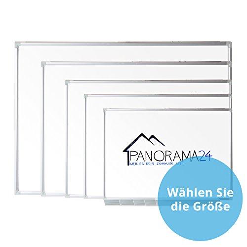Panorama24 Magnetisches Whiteboard 40 x 30 cm (B x H), mit Stiftablage und Aluminiumleisten, Magnettafel Magnete Pinnwand Schreibttafel Wandtafel Tafel Memoboard (Permanente Wandbefestigung)