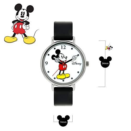 41B6YN2r1EL - Disney Reloj Análogo clásico para Unisex de Cuarzo con Correa en Cuero MK1315