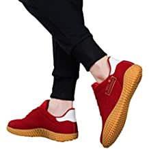 Bestow Parte Inferior de los Hombres de Moda Casual Marea de Oro Zapatos Deportivos Casuales Moda