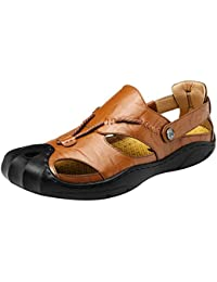 Homyl 2pz Uomini Sports Sandali In Ecopelle Scarpe Estive Da Spiaggia 59ba016aba7