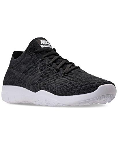 Nike Wmns Nike Free Tr Flyknit 2–Chaussures de Noir / Blanc (Black / Black-White)