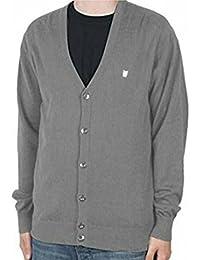Mens Fenchurch Charcoal Grey Fine Knit Cardigan (Medium)