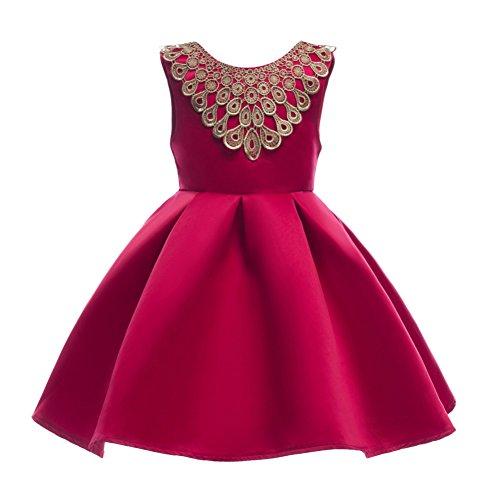 Baby Mädchen Ärmelloses Kleid Party Hochzeit Geburtstag Formale Prinzessin Bowknot Kleidung für 2-7 Jahre altes kleines Mädchen von Shiningup