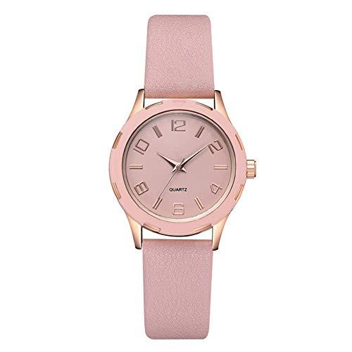 Frauen Uhr, Neue Mode PU Gürtel Damen Fein Quarz PU Uhr Rose Gold Skala Uhr Für Datum Freizeit Party