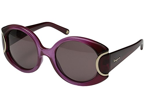 Salvatore ferragamo - signature collection sf811s, geometrico, acetato, donna, burgundy shaded/brown(605 d), 54/21/140