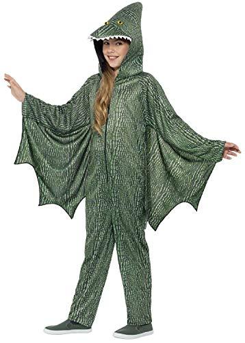 Fancy Me Kinder Jungen Mädchen grüner Pterodactyl Dinosaurier prähistorische Jurassic Animal TV-Buch Film Halloween Kostüm Outfit 4-12 - Pterodactyl Kostüm Kind
