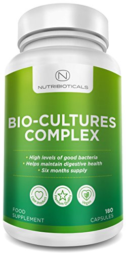 Probiotics Advanced Multi-Strain Formula 180 Capsules (6 Month Supply) by Nutribioticals - Amazon's Choice for The Best Probiotic Test
