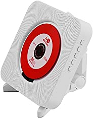 KKmoon Wall Mounted CD Player Portable Speaker Music Amplifier Audio Boombox with Remote Control Support BT/US