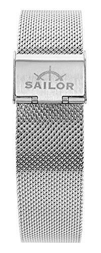 Sailor Damen Herren Edelstahl Armband Style Rosegold o. Silber BSL101-2019-20, Breite Armband:20mm (