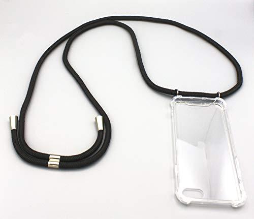 �r iPhone X/Xs | Smartphone Necklace | Handyhülle mit Band | Smartphone Handy Hülle mit Kordel zum Umhängen | Handy-Kette | Schnur in schwarz ()