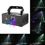 Disco Party Lights- ✌WTD! Disco Lampe 3D Effekt RGBYP Vollfarbe Party Beam Licht, Remote Linear Scheinwerfer, Sound Actived Automatische Disco KTV Bar Pub Haus Haus -424 (Farbe : Purple Beam Only)