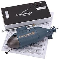 Tenlacum Mini 6 Control Channel Radio Racing Submarine Bateau R / C Toys avec 40MHz émetteur 777-216
