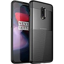 BIGZOOK® Luxury Hybrid Shock Proof Drop Protection Back Case & Cover for One Plus 6T [1+6T] [2018 Launch] [Hybrid Shock Proof - Black]
