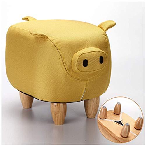 BAIJJ hängematte Kinder Baby waschbar Schuhe Bank Ferkel Sofa Bank hocker sitzen Bank hauptwechsel Schuhe Bank Mode Ideen 34 * 50 * 36 cm (Farbe: gelb, größe: 34 * 50 * 36 cm) (Baby Schaukel Unter $50)