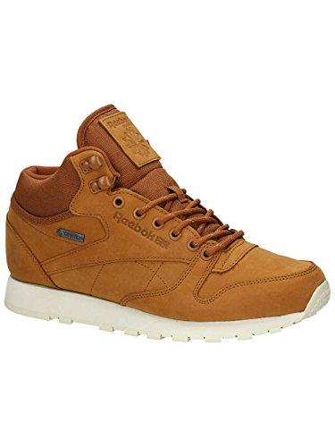Herren Winterschuh Reebok Classic Leather Mid Gore-Tex Sneakers brown malt/paperwhite/bea
