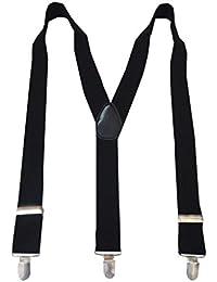 Navaksha Black Y-Back Solid Adjustable Suspender