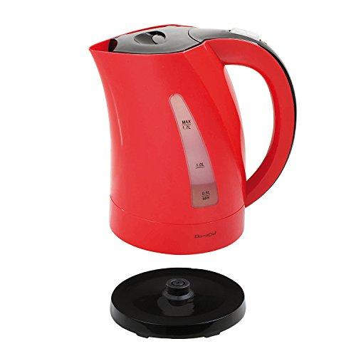 Bouilloire 2200W sans fil Rouge/Noire 1,7L avec réservoir d'eau visible - DOM298RN