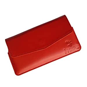 i-KitPit : Genuine Leather Pouch Case Cover For Micromax Canvas 3 A115 (ORANGE)